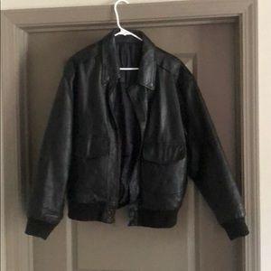 Men's leather jacket, like new